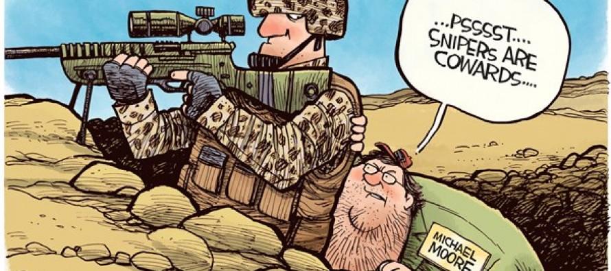Michael Moore Snipers (Cartoon)