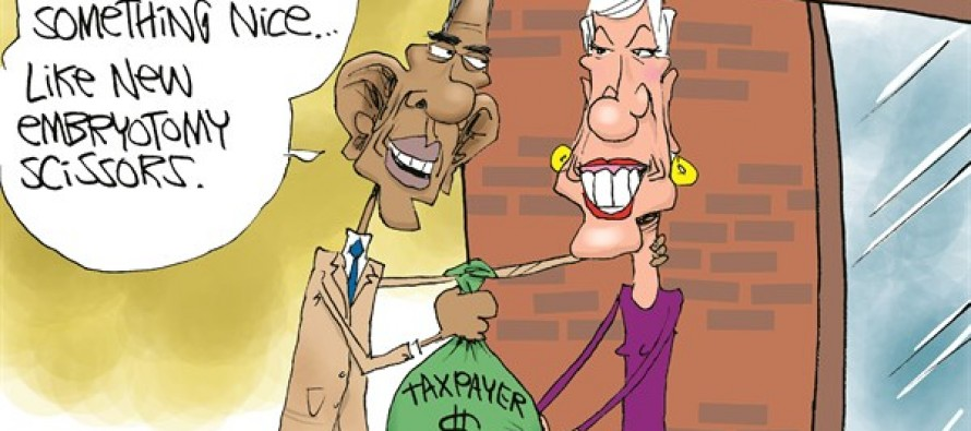 Taxpayer Money For Abortion (Cartoon)