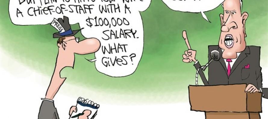 Gov Rauner- Essential Spending (Cartoon)