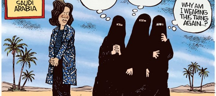 Michelle Obama Unveiled (Cartoon)