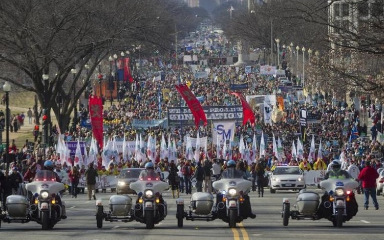 Abortion march DC jan 2015