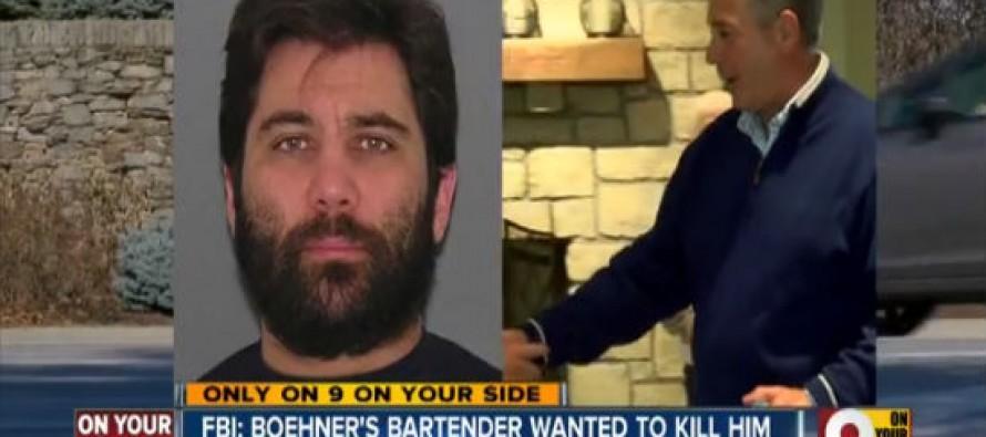 FBI: John Boehner's Bartender Plotted to Poison Him or Shoot Him to Death