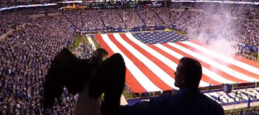 'I Cried' Watching This Powerful, Patriotic Moment Before NFL Playoff Game 'I Was Covered in Chills'
