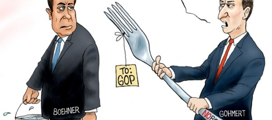 Fork in the road (Cartoon)
