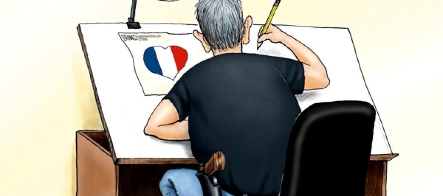 Pen vs. sword: Cartoonists unite against Islamist terror (Cartoon)