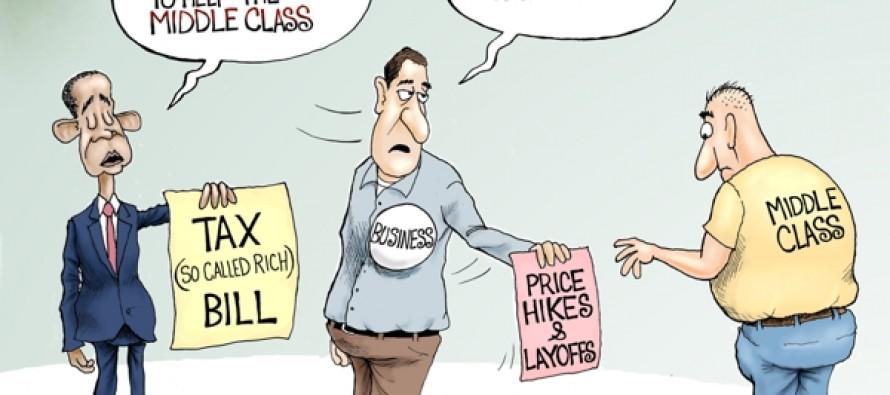 Trickle Down Taxes (Cartoon)