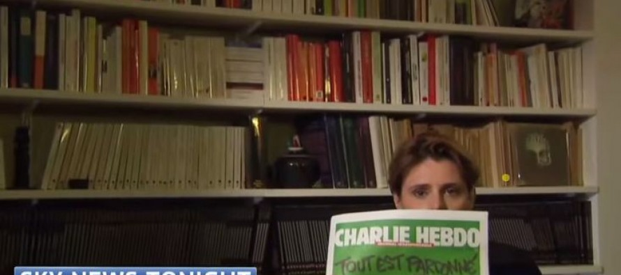 COWARDS: Sky News Cuts Away From Guest To Avoid Showing Charlie Hebdo Cover