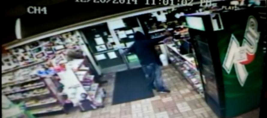 [VIDEO] What Happened When Armed Robber Met Armed Clerk? AWESOME Surveillance Footage!