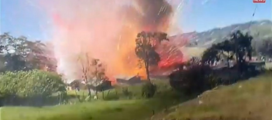 WATCH THE KABOOM! Here's what happens when a fireworks factory explodes