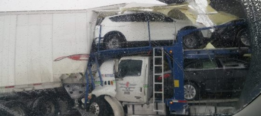 Chilling, Snowy Video Catches Ongoing Smash-ups on I-94 Near Kalamazoo