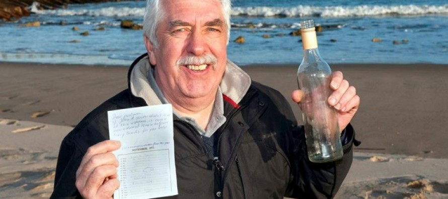 Man Puts Message in a Bottle Over 40 Years Ago – It Just Washed Ashore 3,000 Miles Away