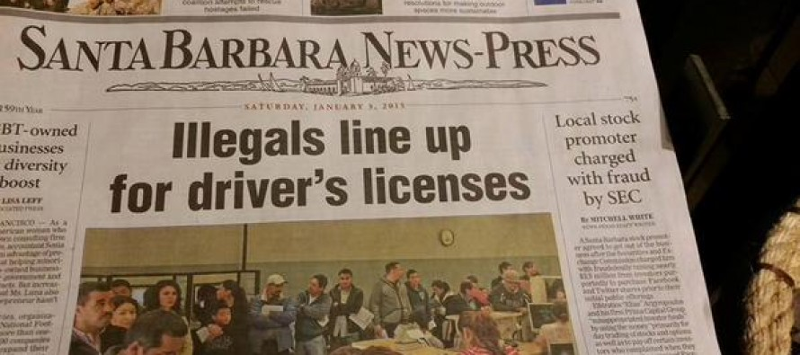 Newspaper Office in California Vandalized Simply For Using The Word 'Illegals' In Headline