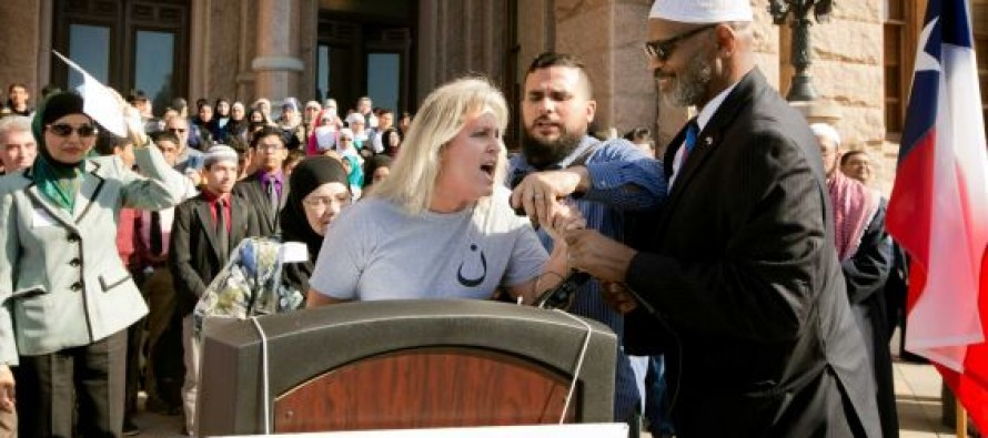 "WATCH: Woman Hijacks Mic at ""Texas Muslim Capitol Day"" Event to Decry ""False Prophet Mohammad"""