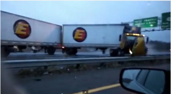 truck on turnpike