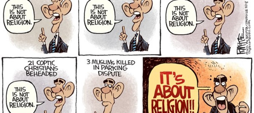 Obama and Religion (Cartoon)