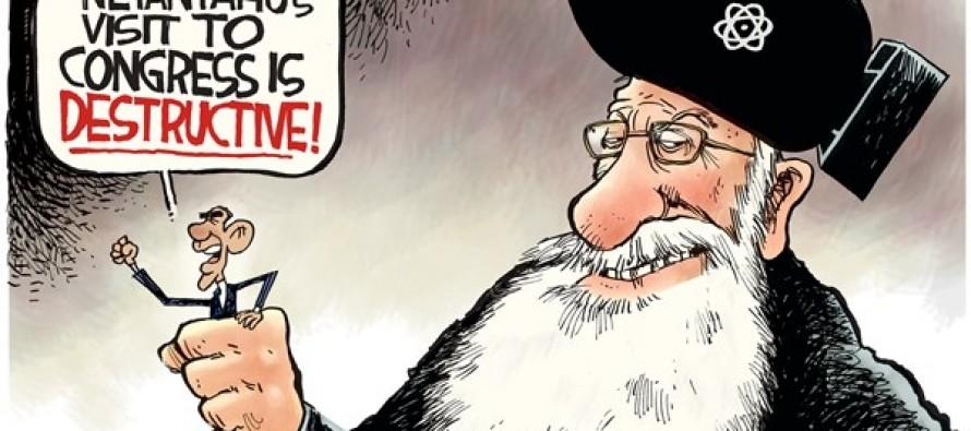 Netanyahu Visit (Cartoon)
