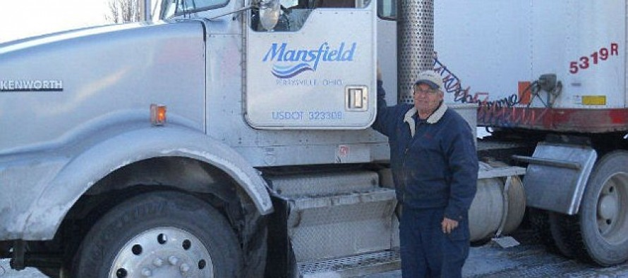 Is this the hardest working man in America? Truck driver who has never taken a sick day, has worked at the same company for 50 years.