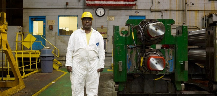 A Portrait of the American Worker:Red, white and blue-collar