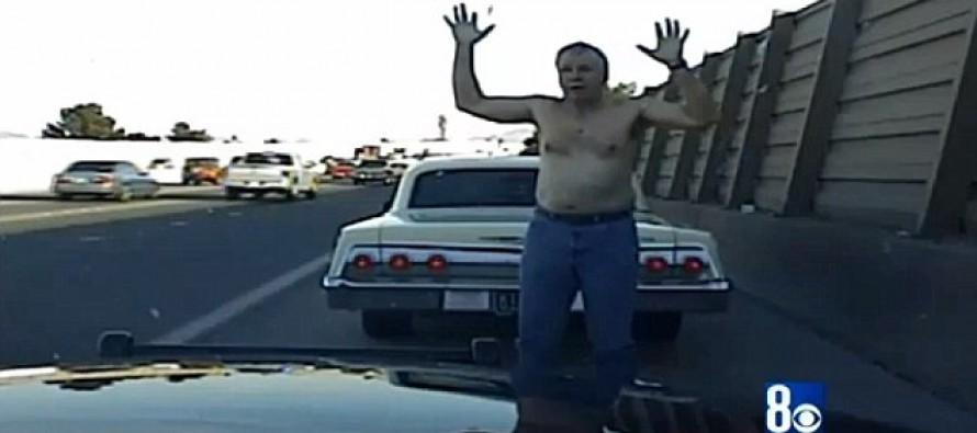 Highway Patrolman's License Plate Error Lands a Sobbing, Shirtless, Elderly Man in Jail
