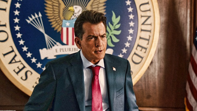 Charlie Sheen as The President in 'Machete Kills'
