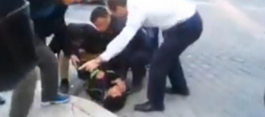 [VIDEO] Security Camera Captures Mayor of Jerusalem Tackling Knife-Wielding Palestinian