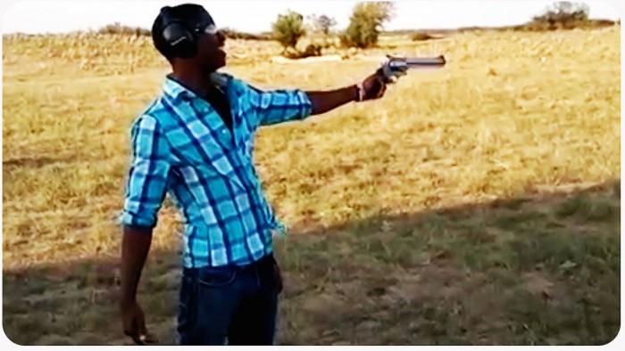 Shooter Loses Control of gun