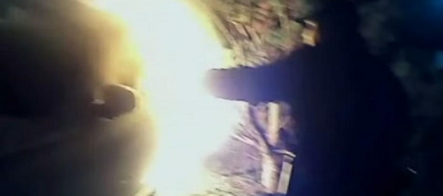 WATCH: Head Cam Footage Shows Sheriff's Deputies Risking Their Lives to Smash Window of Burning Car and Pull Out Driver Whose Clothes Were Already on Fire
