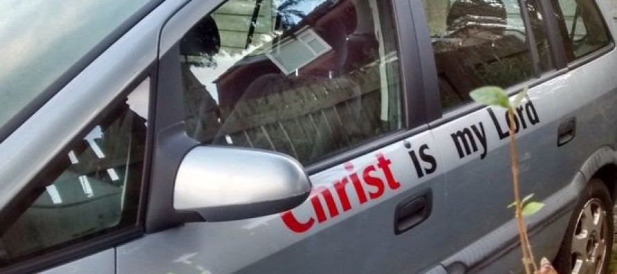 Driver's Insurance to be Cancelled Over 'Christ' on Car