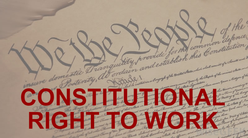 constitutional right to work