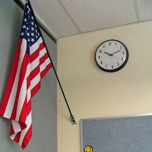 Flag and Clock; Shutterstock ID 633750