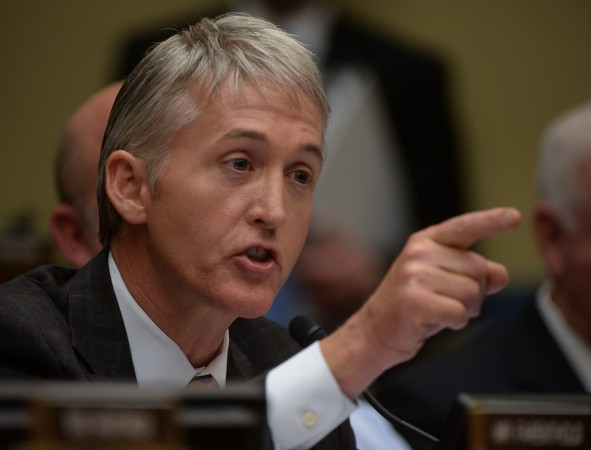 IRS officials face the House Oversight Committee in Washington, DC.