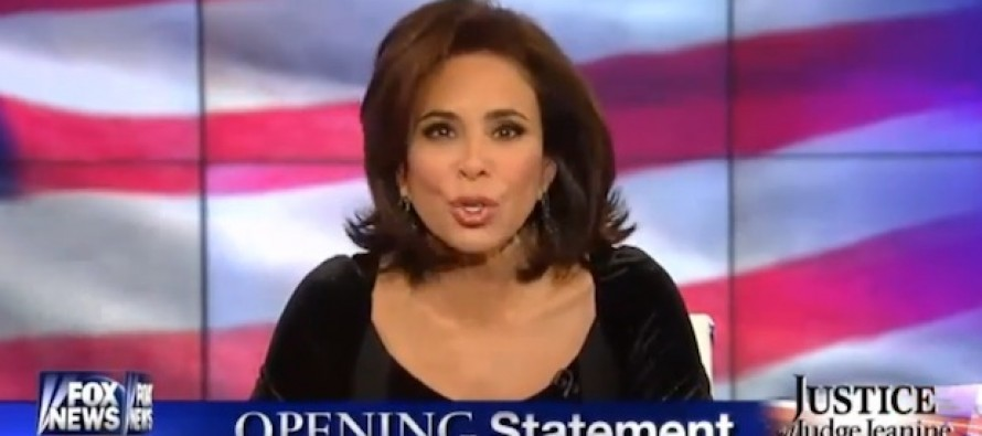 Judge Pirro Goes Full Blast And Destroys Hillary in Three Words