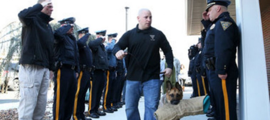 New Jersey Police Line Up to Say a Tearful Goodbye to Their Best Friend