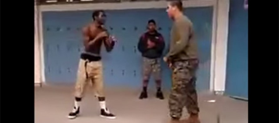 VIDEO: Watch What Happens When a Thug Calls a US Marine a Fat Cracker