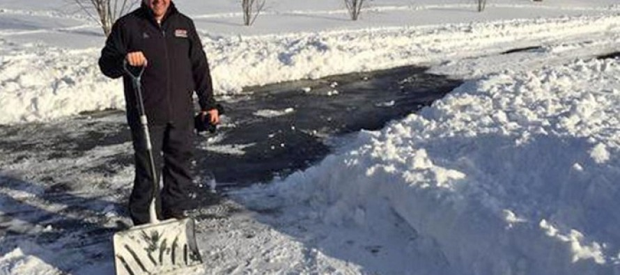 Eastern Kentucky University President Shovels a Student's Driveway as Part of Twitter Deal