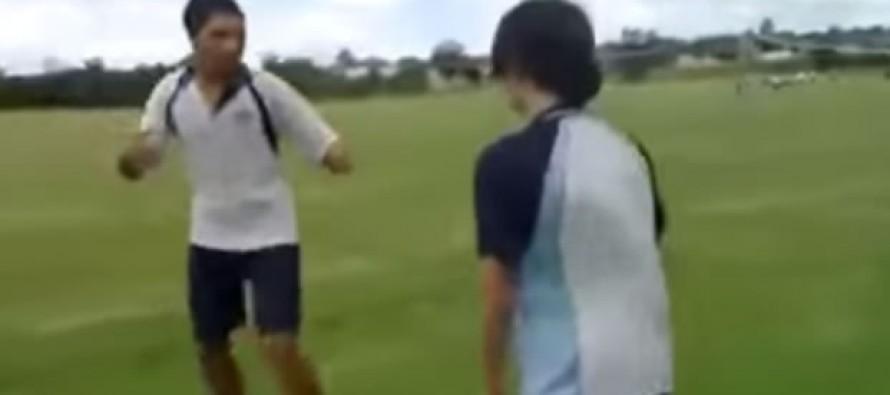 [VIDEO] Big Mistake: Bully Picks A Fight With A Ninja Kid