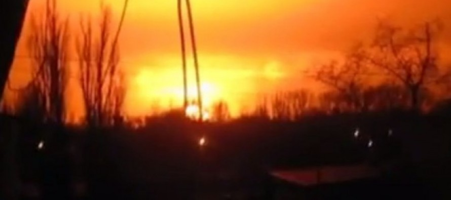 Video From Ukraine: Artillery Fire, Not 'Tactical Nuke' Attack, Sets Off Enormous Explosion