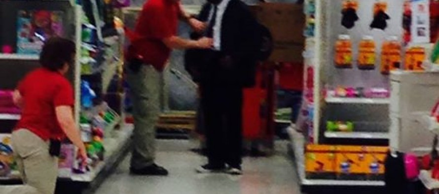 Kind Target Employee Teaches Young Man How to Tie a Tie for Job Interview