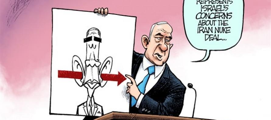 Netanyahu Red Line (Cartoon)