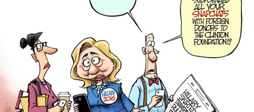 Hillary E-Mails (Cartoon)