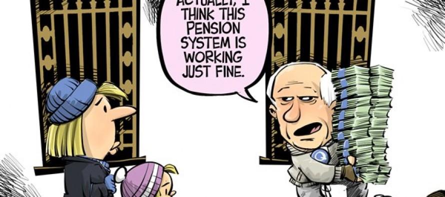 Quinn's pension (Cartoon)