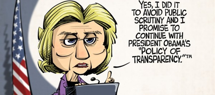 Hillary and Transparency (Cartoon)