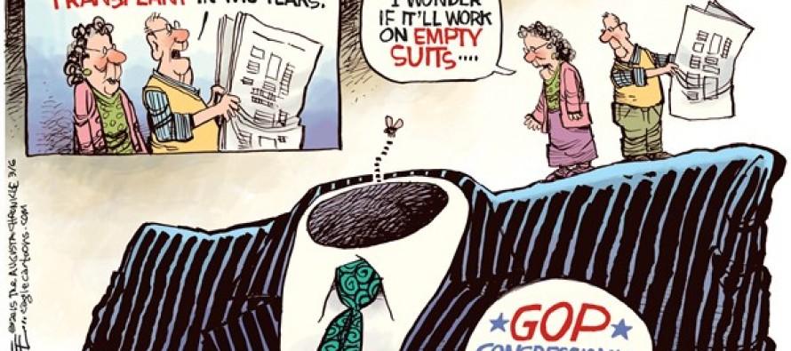 GOP Empty Suit (Cartoon)