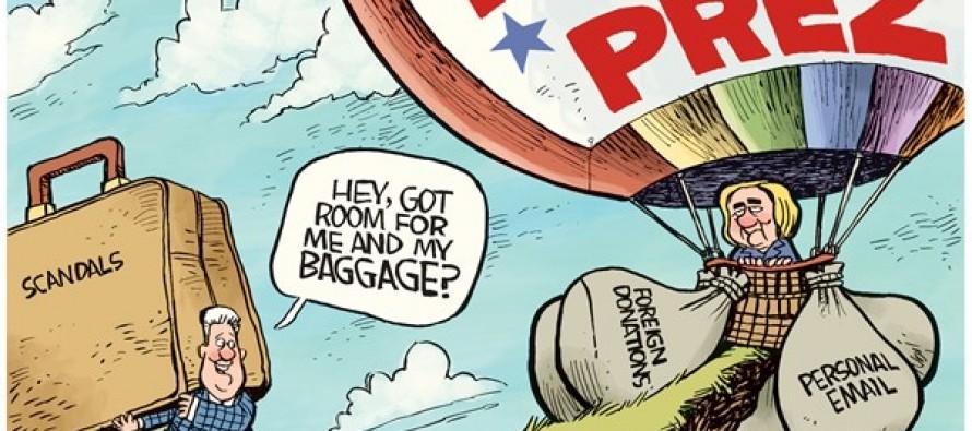 Hillary Baggage (Cartoon)