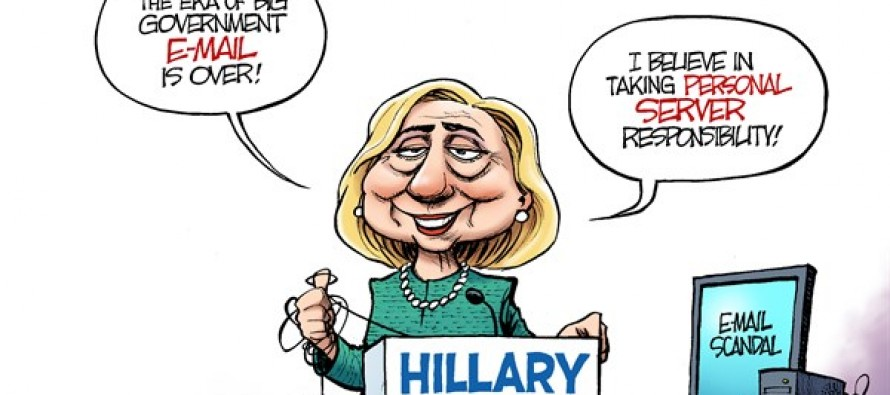 Clinton Triangulation (Cartoon)