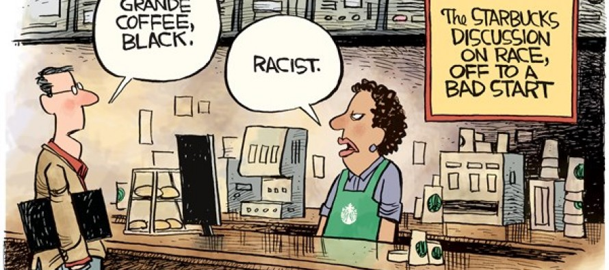 Starbucks Race Talk (Cartoon)