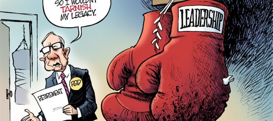 Reid Retires (Cartoon)