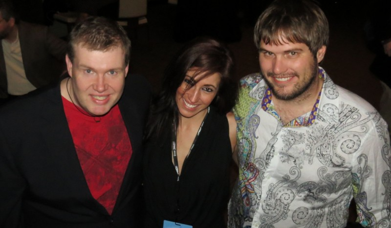 John Hawkins, Jennifer Lawrence & Dustin Stockton at Blog Bash