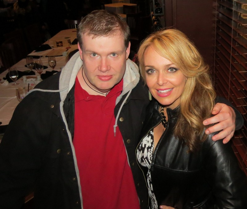 John Hawkins and Dr. Gina Loudon at a late dinner at Fogo de Chao