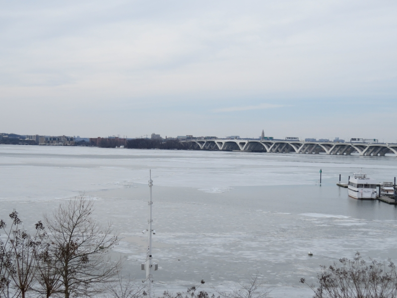 On the day before CPAC, National Harbor was mostly frozen over